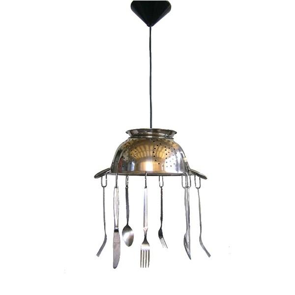 Heronia Κρεμαστό Φωτιστικό Κουζίνας INOX FUN-04 KITCHEN 1L ... 5c793ecd504