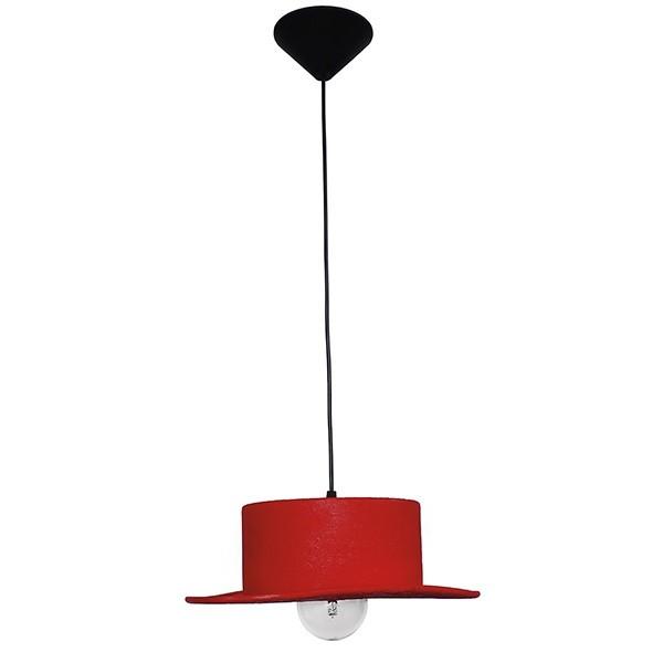 Heronia Κρεμαστό Κόκκινο Φωτιστικό Καπέλο HAT 1L - Κρεμαστά ... cb819b22ae2
